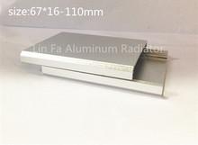 10 шт., алюминий абс корпус 67 * 16-110 мм. алюминиевая соединительная жилья электроники алюминий