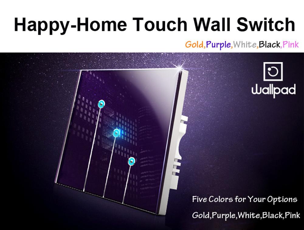 Купить Розовый Хрусталя сенсорный выключатель света Панели переключателя touch 2 gangs1, Wallpad 110 В ~ 220 В переключатель, бесплатно Настроить ЛОГОТИП, Бесплатная Доставка