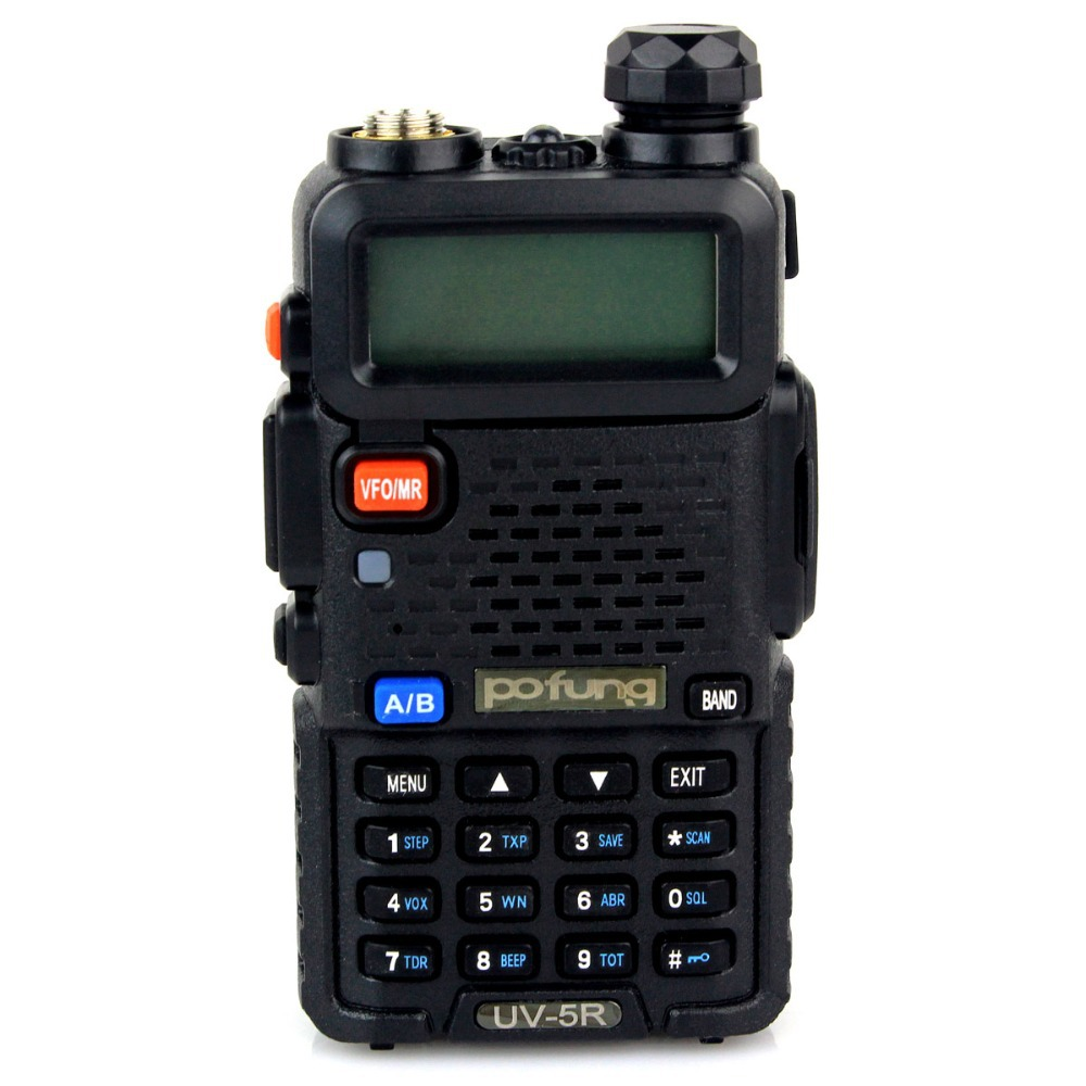 2piece/lot New BaoFeng Walkie Talkie Pufeng Radio uv-5r 5W 128CH UHF&VHF Transceiver Mobile Handled A7108A Fshow Free Earpiece(China (Mainland))