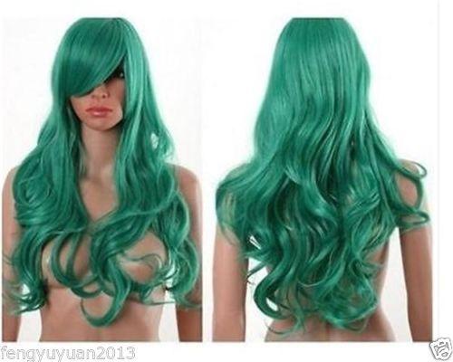 W  holesale price Hot Sell TSC^^^          hot BLEACH Neliel Long Cosplay Wig Deep Green Curls <br><br>Aliexpress