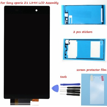 For Sony Xperia Z1 L39 L39H LCD C6902 C6903 C6906 LCD Display Touch screen Digitizer Assembly + Adhesive Glue + Tools + Film