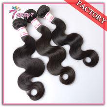Unprocessed brazilian virgin hair body wave 3pcs high quality Raw cheap human hair extension wholesale Soft brazilian body wave(China (Mainland))