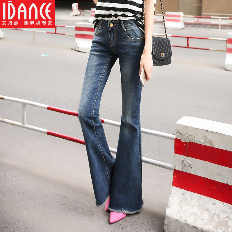 idance 2016 spring new Cotton high quality Brand jeans Womens pants Skinny Fashion wide leg pants FlaresОдежда и ак�е��уары<br><br><br>Aliexpress