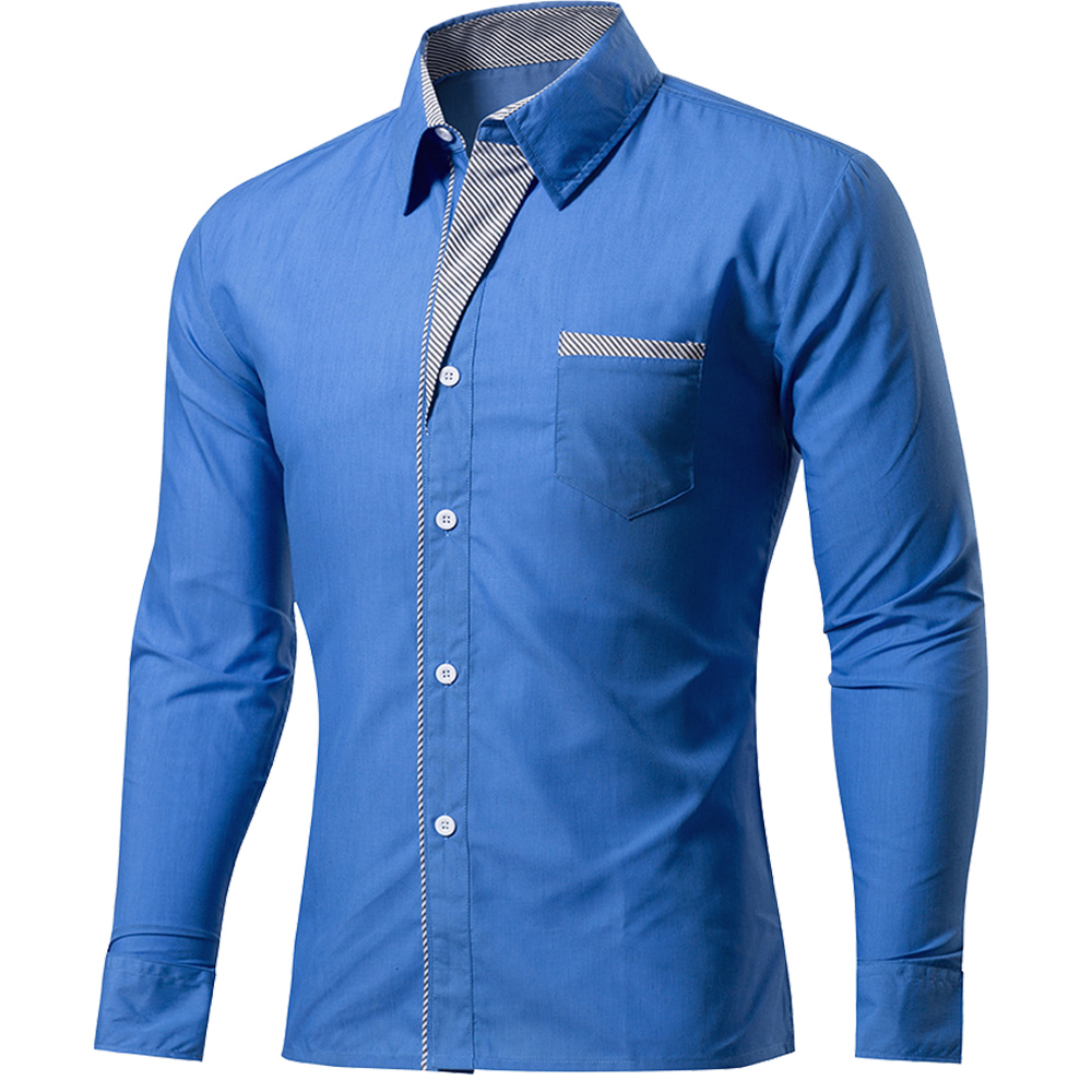 Office dress men promotion shop for promotional office for Mens long sleeve casual cotton shirts