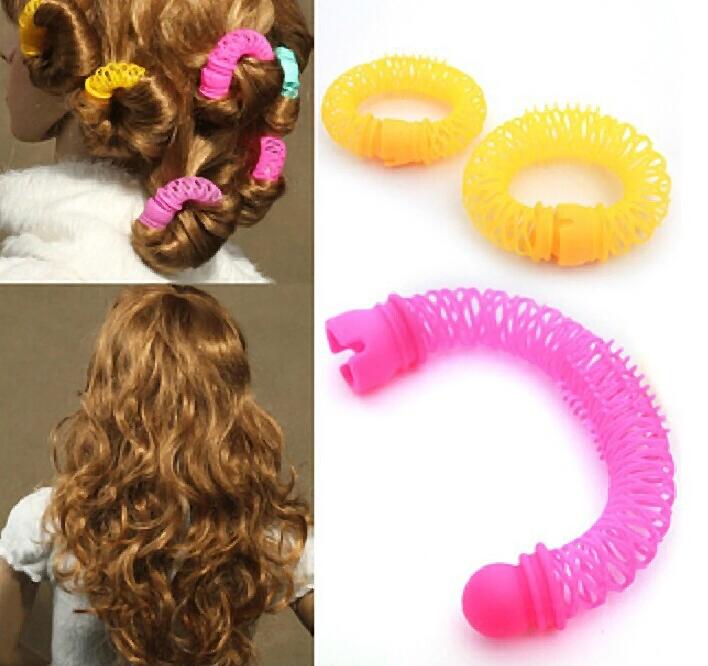 2015 New Hot Sale 8 unidades/pacote ferramentas de linho cabelo mulheres menina acessórios Curls atacado varejo colorido K600