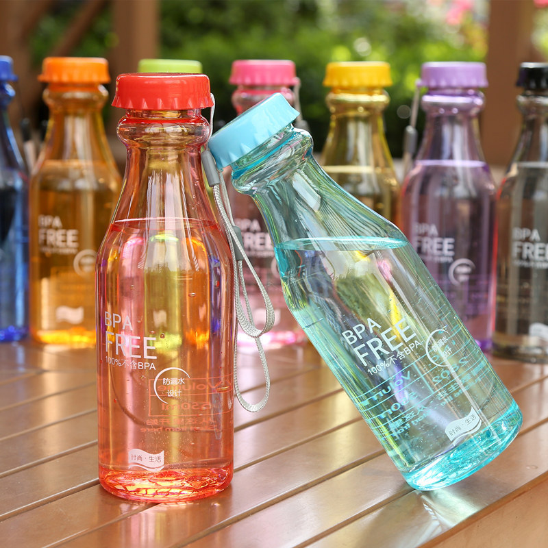 HOT SALE soda Sport Bottle Transparent 550ml BPA Free Candy Color Portable Fashion shop gift accept customization add logo(China (Mainland))