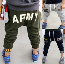 Free Shipping New 2015 Spring/Autumn Navy Style Terry Thin Kids Harem Pants Boys/Girls Trousers Casual Children Clothes T2/DT24(China (Mainland))