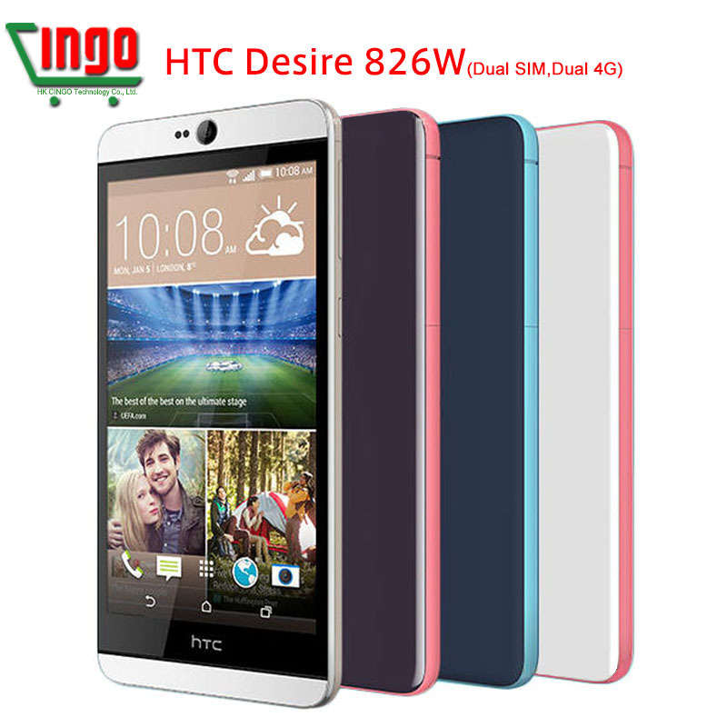 100% Original HTC Desire 826 Unlocked HTC 826W Dual SIM Dual 4G LTE MobilePhone 13MP Camera QuadCore Android 5.0 Cell Phone(China (Mainland))