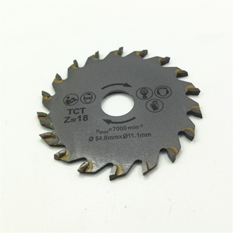 Hot Sale! 54.8mm TCT Saw Balde 54.8mm Laminate Cutting Blades 18 Tooth Carbide Saw Blade For Mini Saw(China (Mainland))