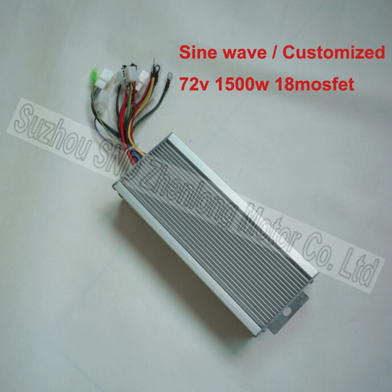 Sinusoid EV controller 72V 1500W 18 mosfet/ customized electric scooter bldc motor sine wave controller G-K120(China (Mainland))