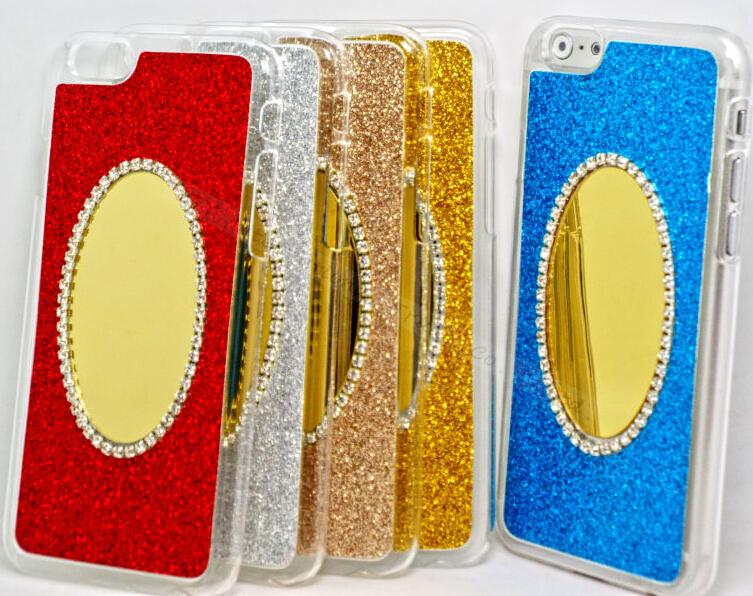 Deluxe Fashion Diamond Glitter Sparkling Bling Mirror Case For Apple iPhone 6 Plus iPhone6+ 5.5'' Cases Phone Shell Cover APT M(China (Mainland))