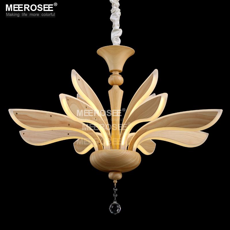 creative led chandelier lighting acrylic led wooden lamp. Black Bedroom Furniture Sets. Home Design Ideas