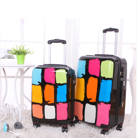 24 inch Traveller case Pull Rod trunk Women Girl trolley ABS PC suitcase luggage rolling spinner wheels boarding bag<br><br>Aliexpress