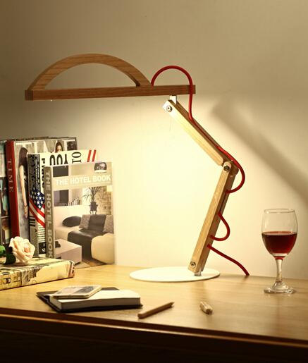 48% discount! led wood desk lamp handmade table lamp(China (Mainland))