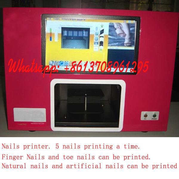 2015 new 5 finger printing Lowe price Nail Tool nail printing machine nail art printer digital nail printe CE APPROVED(China (Mainland))
