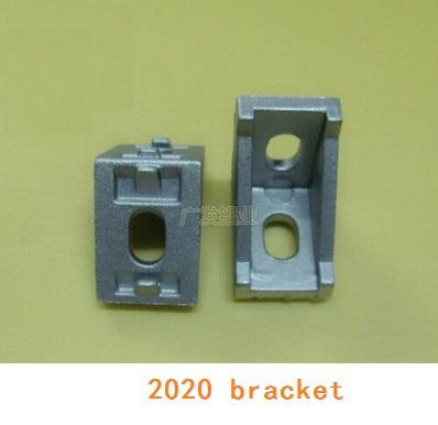 Гаджет  20pcs/lot  2020 corner fitting angle aluminum 20 x 28  connector bracket fastener match use 2020 industrial aluminum profile None Мебель