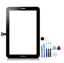 For Samsung GALAXY Tab2 7.0 P3100 Original Touch Screen Panel Glass Digitizer Connector Flex Cable 3M Sticker + Free Tools
