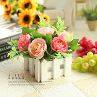 Мода искусственные цветы шелк цветок обеденный стол Бауэр украшение для свадьбы