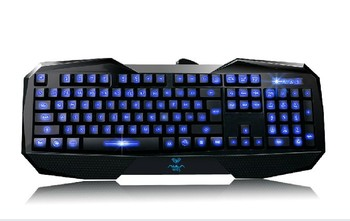 Tarantula backlit mouse and keyboard set wired keyboard luminous gaming keyboard usb computer  Free Shipping
