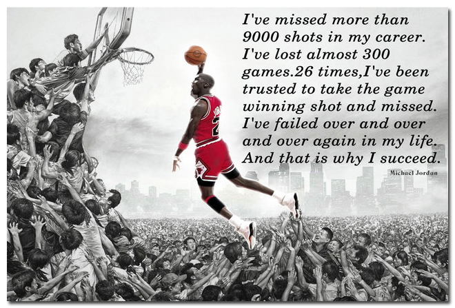 Why I Succeed - Michael Jordan Motivational Quote Education Art Silk Poster Print 12x18 20x30 24x36