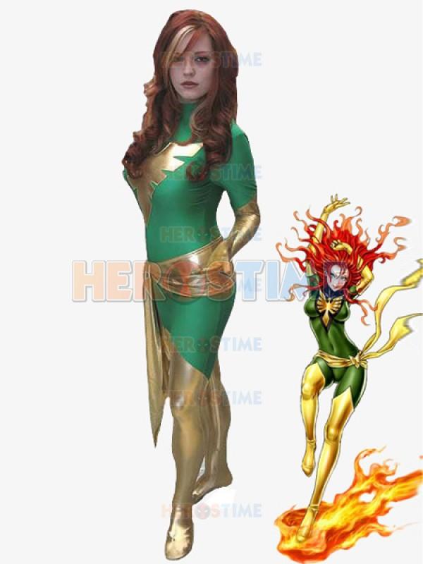 Green X-men Dark Phoenix Spandex Superhero Costume cosplay party halloween X-Men show costumeОдежда и ак�е��уары<br><br><br>Aliexpress