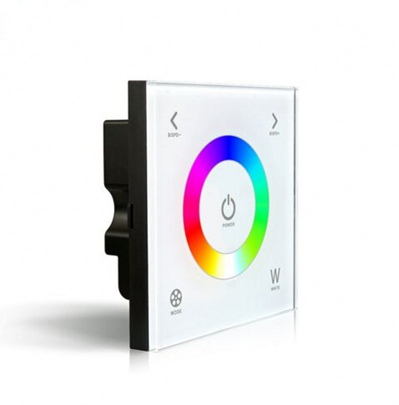D4 Led RGBW Touch Controller DC12-24V 4A*4CH Glass Wall Mount Touchable RGBW Led strip Full Color Controller 5 YEAR WARRANTY(China (Mainland))