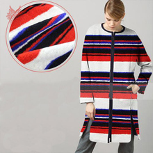 European/American style white/red/blue stripe cashmere/wool fabric for winter coat/dress/suits SP2446 Free shipping(China (Mainland))