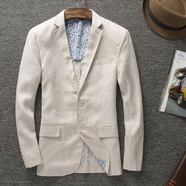 2016 новое прибытие Высокого качества натуральный лен мужские моды для мужчин случайные ...