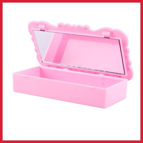 carroteer Rose Eyelashes Rings Jewelry Storage Mirror Box Makeup Case High Quality(China (Mainland))