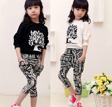 Buy New 2016 Autumn Children Girls Clothing Sets Casual Bat Long-Sleeve T Shirt & Harem Pants 2 Pieces,Baby Kids Girl Clothes Set for $19.72 in AliExpress store