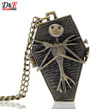 Antique Vintage Bronze Steampunk Pocket Watch Mummy Style Men Pendant Necklace Gift P167