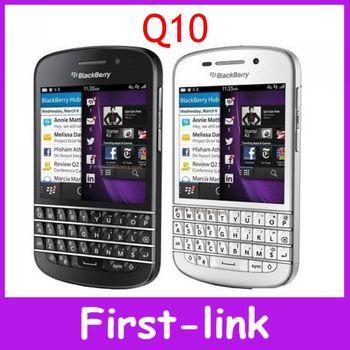 Blackberry Q10 первоначально открынный сотовый телефон GSM 4 г сети 8.0MP камера двухъядерный 2 г оперативной памяти 16 г ROM