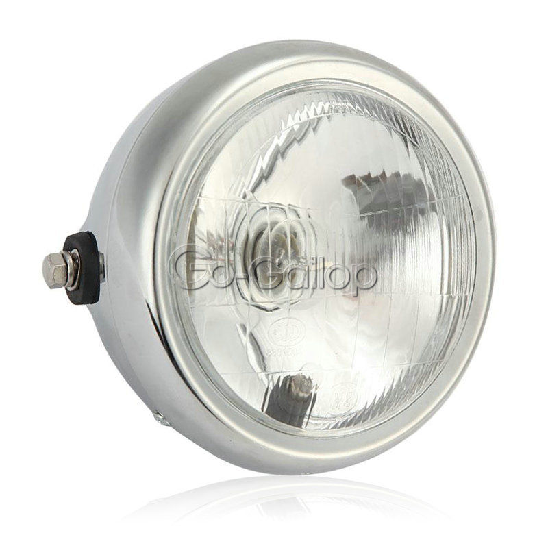 "7"" Motorcycle Headlight Bulb Driving Fog Light Sport Street Bike Cafe Racer 12V(China (Mainland))"