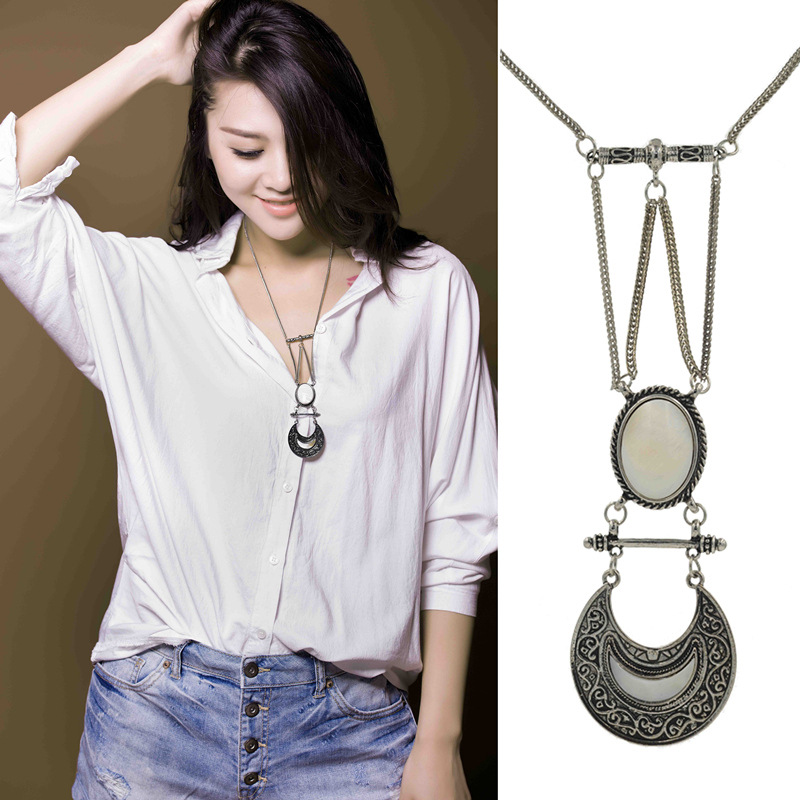 Antique vintage European Style Long sweater pendant necklace for women hot sell jewelry store(China (Mainland))