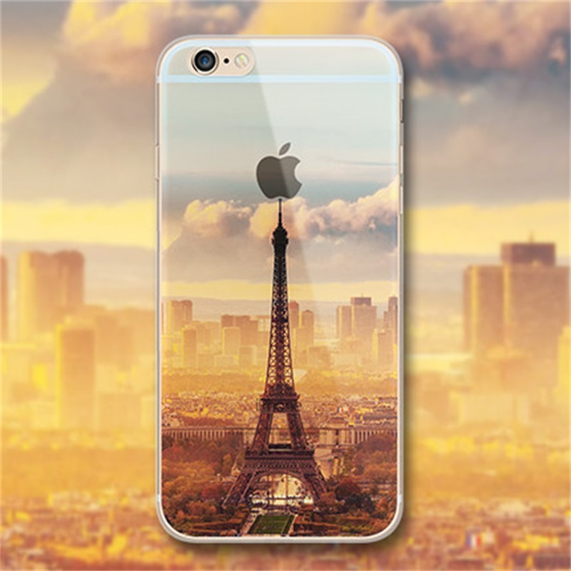 Soft Tpu Silicone phone Cases For Apple Iphone 5 5s SE 3d Embossing ultrathin Cute scenery series gel cell Phone bag Case cover(China (Mainland))
