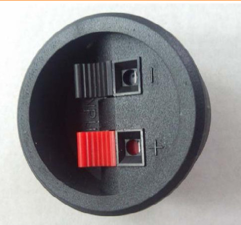 Wholesale 500pcs 2PIN PUSH Red and Black Spring Push Type Speaker Cable wire Loudspeaker Audio Terminal Board Connector -w208(China (Mainland))