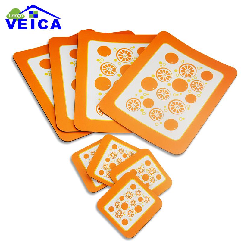 8pcs/lot Mat Non-Slip Heat Resistant Mat Coaster Cushion Placemat Pot Holder Table Kitchen Accessories(China (Mainland))