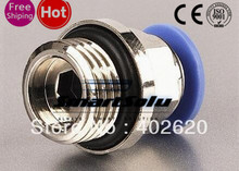 Free Shipping 12PCS/LOT PC12-G02 12mm tube, G1/4 thread Pneumatic fittings, plastic fittings(China (Mainland))