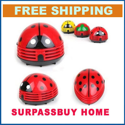 Free Shipping 100% Guarantee Mini Ladybug Vacuum Cleaner Desktop Coffee Table Vacuum Cleaner Dust Collector For Home Office Car