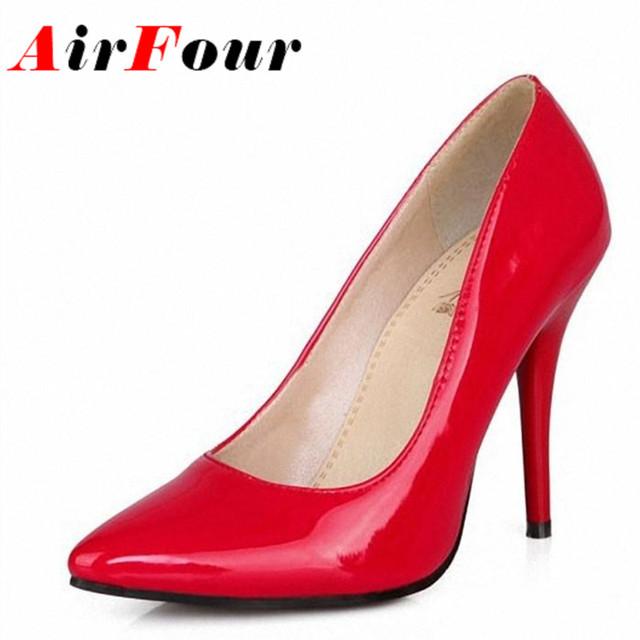 Airfour 7 цвета женщины стилет туфли на высоких каблуках острым носом сексуальная ...