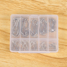100PCS Perforated Hooks Bulk Sharpened Suicide Fishing Needle Hooks Tackle New Free Shipping