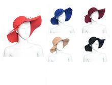 2015 Fashion Style Soft Women Vintage Retro Wide Brim Wool Felt Bowler Fedora Hat Floppy Cloche