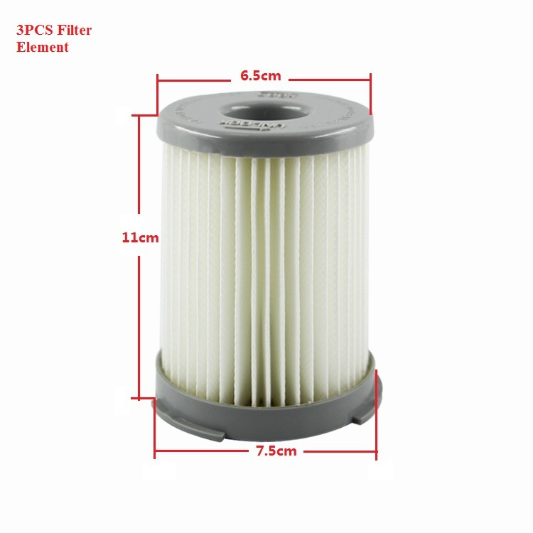 3PCS Vacuum Cleaner parts Cleaner HEPA Filter Element For Electrolux ZS203 ZT17635/Z1300-213(China (Mainland))