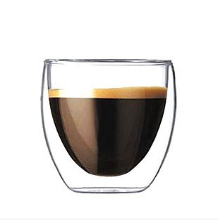 3 PCS 80ml Tea cup .heat resistant glass cup double-wall tea set teapot Transparent drinkware Coffee Cup Mug Free shipping(China (Mainland))