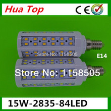 Buy Hot! Wholesale 5pcs/lot E27 E14 B22 15W LED Bulb 84SMD 2835 LED Light Corn lamp 110V 220V White/Warm solar lamp lanterns for $15.91 in AliExpress store
