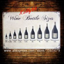 [ Kelly66 ] Wine Bottle Figes Pub Home Wall Signs Painting Craft 20*30 CM Size AA-181(China (Mainland))