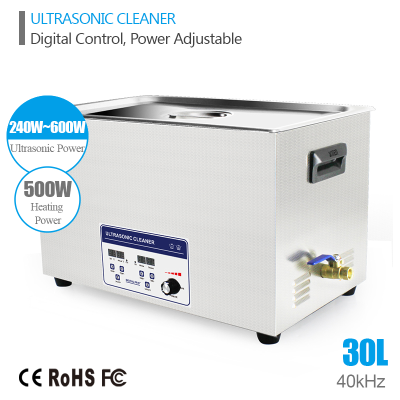 Industry Ultrasonic Cleaner Cleaning Machine Baskets Jewelry Watches 30L 240W-600W 40kHz Ultrasound Cleaner Ultrasonic Bath(China (Mainland))