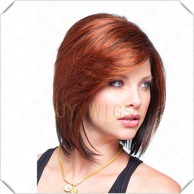 Women Nice Short Natural Straight Wig Stylish Lady Blonde Synthetic Hair Wigs Free Shipping(China (Mainland))