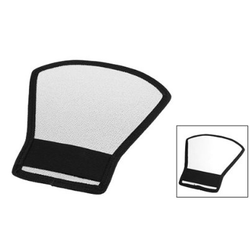 Special Sale!White Silver Tone Flash Light Barrier Reflector for SLR Camera(China (Mainland))