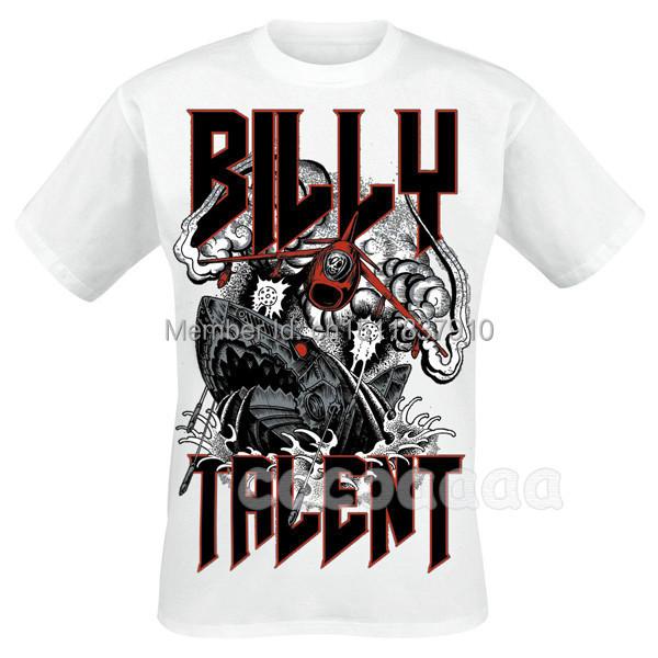 Harajuku Anime Skateboard Billy Talent Rock 3D new shirt mma fitness Hardrock heavy Metal 100%Cotton Customize shark hip hop(China (Mainland))